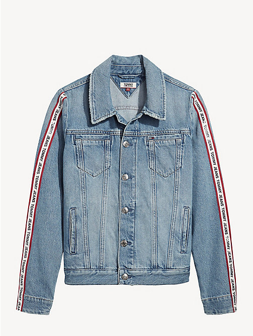 TOMMY JEANS Logo Tape Denim Jacket - SYDNEY TAPE LT BL R - TOMMY JEANS Coats & Jackets - detail image 1