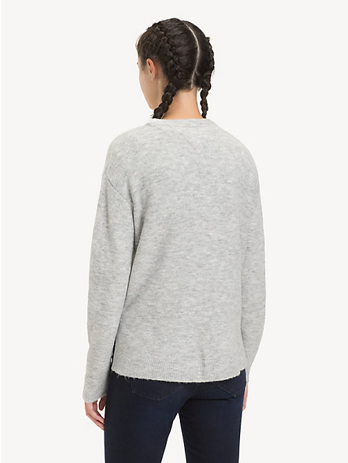 TOMMY JEANS Pullover asimmetrico - LT GREY HTR - TOMMY JEANS Maglieria - dettaglio immagine 1