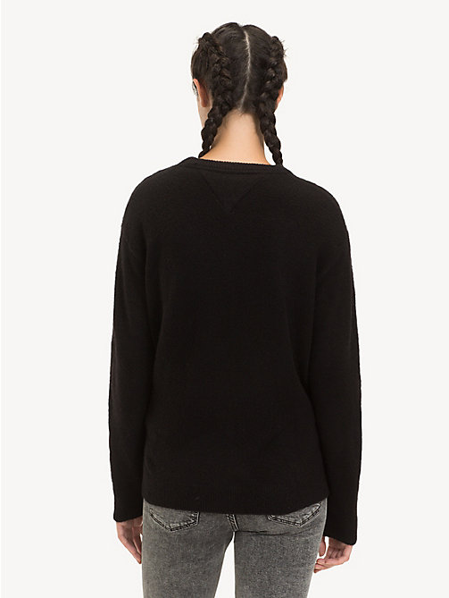 TOMMY JEANS Pullover asimmetrico - TOMMY BLACK - TOMMY JEANS Maglieria - dettaglio immagine 1