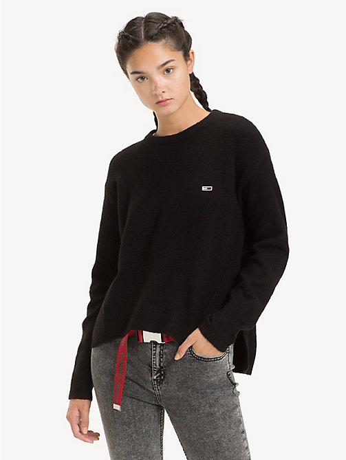 TOMMY JEANS Pullover asimmetrico - TOMMY BLACK - TOMMY JEANS Maglieria - immagine principale