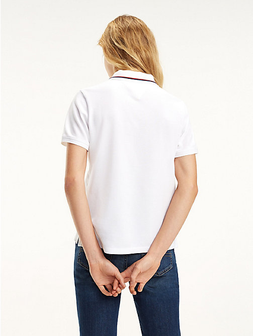 TOMMY JEANS Tommy Classics Organic Cotton Polo - CLASSIC WHITE - TOMMY JEANS Tops - detail image 1