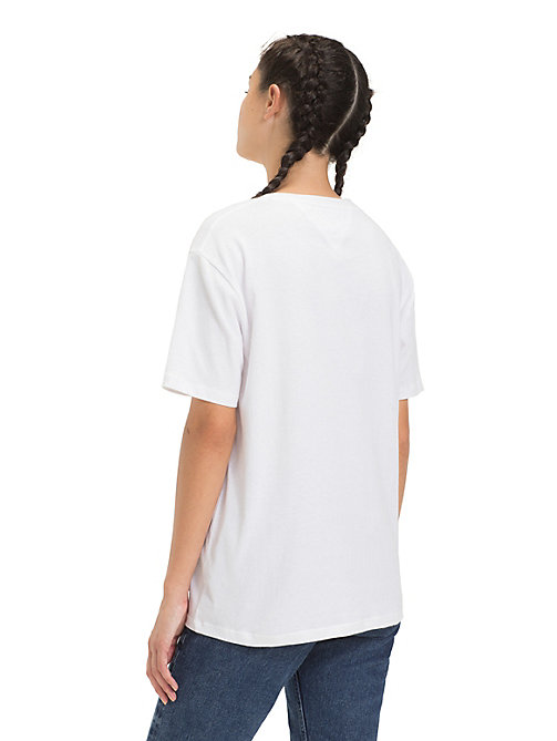 TOMMY JEANS Floral Logo T-Shirt - CLASSIC WHITE - TOMMY JEANS Tops - detail image 1