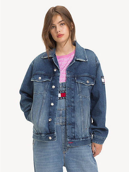 TOMMY JEANS Oversized Denim Jacket - SYDNEY MID BL  RIG - TOMMY JEANS Coats & Jackets - main image