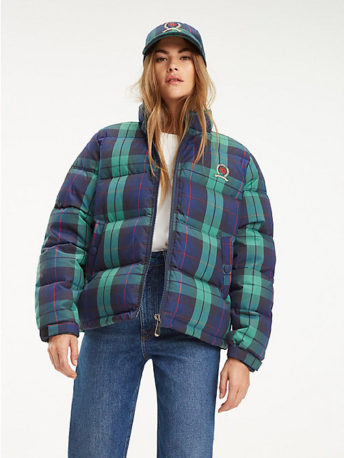 TOMMY JEANS Pufferjack met all-over plaidprint en embleemlogo - DARK SAPPHIRE / MULTI - TOMMY JEANS TOMMY JEANS Capsule - main image