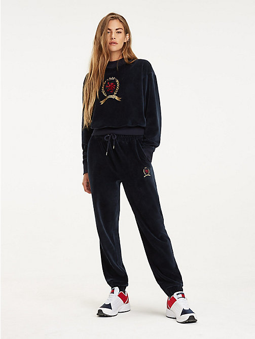 TOMMY JEANS Бархатная толстовка с логотипом - DARK SAPPHIRE - TOMMY JEANS TOMMY JEANS Capsule - главное изображение