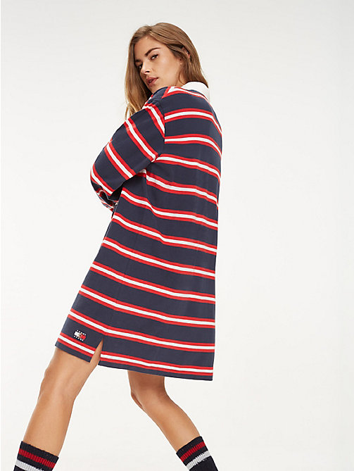 TOMMY JEANS Multi-Colour Stripe Rugby Dress - DARK SAPPHIRE / MULTI - TOMMY JEANS TOMMY JEANS Capsule - detail image 1