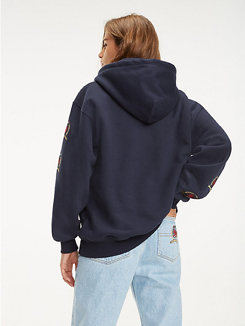 TOMMY JEANS Repeat Crest Sleeve Hoody - DARK SAPPHIRE - TOMMY JEANS TOMMY JEANS Capsule - detail image 1