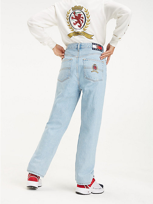TOMMY JEANS Crest Pocket Mom Jeans - LIGHT BLUE DENIM - TOMMY JEANS TOMMY JEANS Capsule - detail image 1
