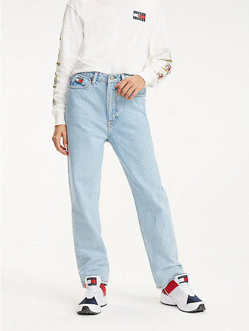 TOMMY JEANS Crest Pocket Mom Jeans - LIGHT BLUE DENIM - TOMMY JEANS TOMMY JEANS Capsule - main image