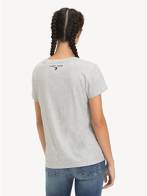 TOMMY JEANS T-shirt con logo - LT GREY HTR - TOMMY JEANS Sustainable Evolution - dettaglio immagine 1