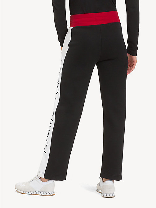 TOMMY JEANS Colour-Blocked Fleece Joggers - TOMMY BLACK / MULTI - TOMMY JEANS Trousers & Skirts - detail image 1
