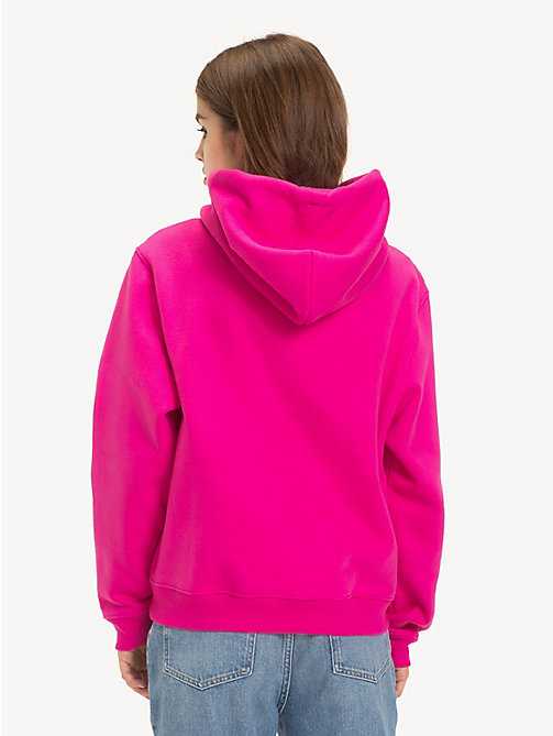 TOMMY JEANS Tommy Classics Drawstring Hoody - FUCHSIA PURPLE - TOMMY JEANS Sweatshirts & Hoodies - detail image 1