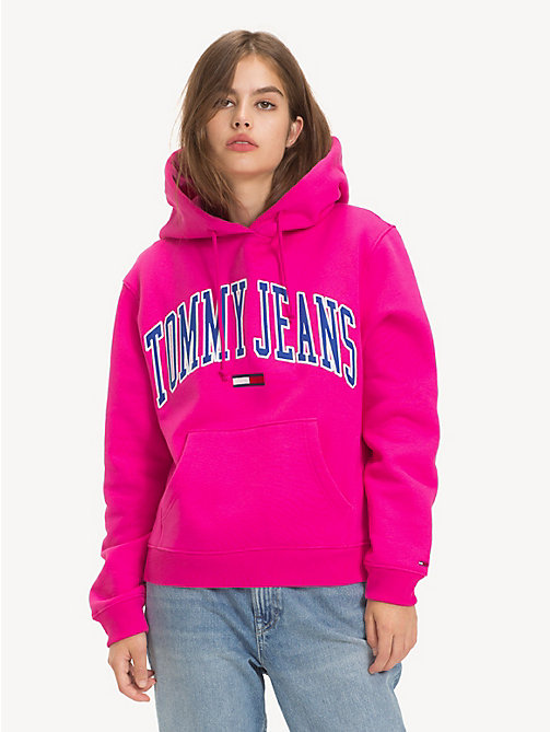 TOMMY JEANS Tommy Classics Drawstring Hoody - FUCHSIA PURPLE - TOMMY JEANS Sweatshirts & Hoodies - main image