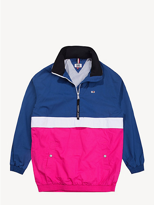 TOMMY JEANS Colour-Blocked Popover - FUCHSIA PURPLE / MULTI - TOMMY JEANS Coats & Jackets - detail image 1