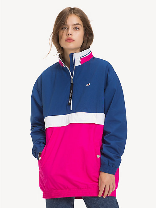 TOMMY JEANS Colour-Blocked Popover - FUCHSIA PURPLE / MULTI - TOMMY JEANS Coats & Jackets - main image