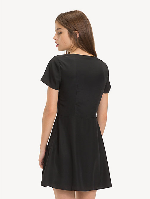 TOMMY JEANS Flare Fit V-Neck Dress - TOMMY BLACK - TOMMY JEANS Dresses - detail image 1