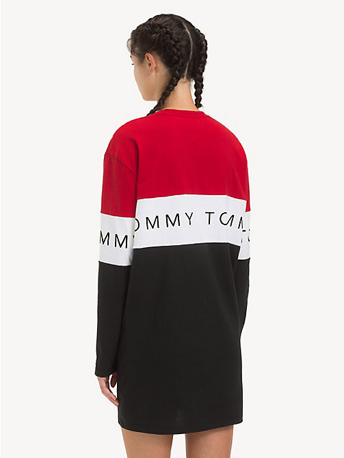 TOMMY JEANS Long Sleeve T-Shirt Dress - TOMMY BLACK / MULTI - TOMMY JEANS Dresses - detail image 1