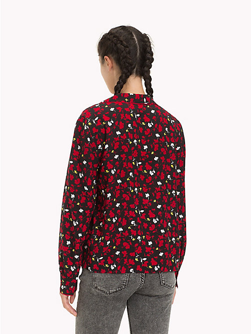 TOMMY JEANS Floral Print Blouse - FLORAL PRINT SMALL / MULTI - TOMMY JEANS Tops - detail image 1