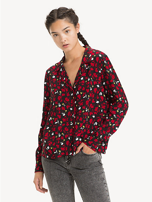 TOMMY JEANS Chemisier à motif floral - FLORAL PRINT SMALL / MULTI - TOMMY JEANS Tops - image principale