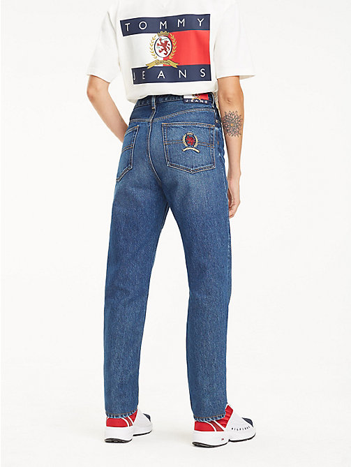 TOMMY JEANS Dark Wash Mom Jeans - DARK BLUE DENIM - TOMMY JEANS TOMMY JEANS Capsule - detail image 1