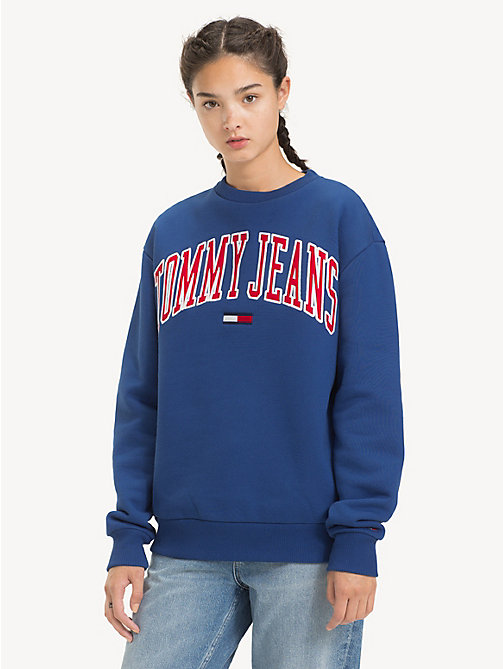 TOMMY JEANS Tommy Classics Logo Sweatshirt - LIMOGES - TOMMY JEANS Sweatshirts & Hoodies - main image