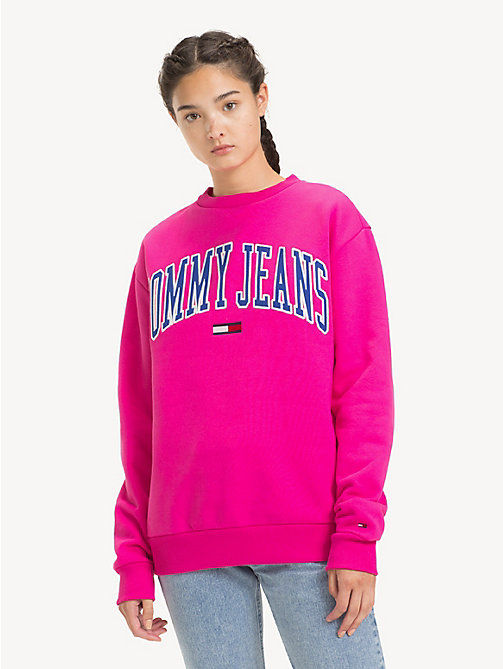 TOMMY JEANS Sweat à logo Tommy Classics - FUCHSIA PURPLE - TOMMY JEANS Sweats - image principale