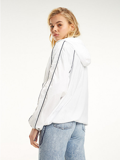 TOMMY JEANS Contrast Piping Popover Jacket - CLASSIC WHITE - TOMMY JEANS Coats & Jackets - detail image 1