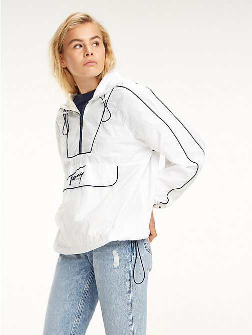 TOMMY JEANS Contrast Piping Popover Jacket - CLASSIC WHITE - TOMMY JEANS Coats & Jackets - main image