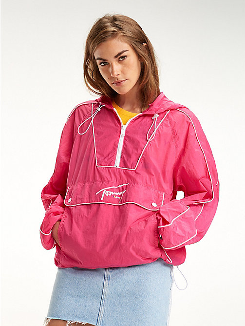 TOMMY JEANS Contrast Piping Popover Jacket - FUCHSIA PURPLE - TOMMY JEANS Coats & Jackets - main image