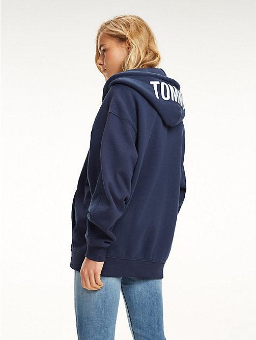 TOMMY JEANS Oversized Zip-Thru Hoody - BLACK IRIS - TOMMY JEANS Sweatshirts & Hoodies - detail image 1