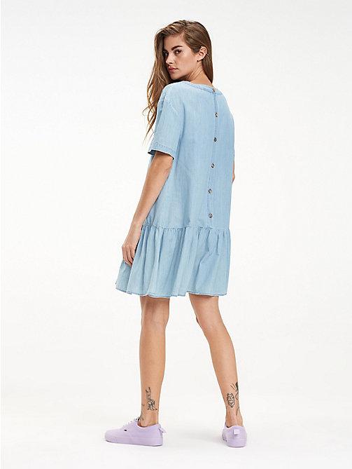 TOMMY JEANSDropped Waist Cotton Dress 53b5ba7064