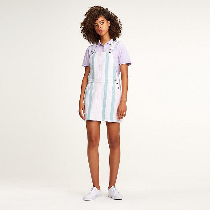 deft design incredible prices outlet boutique Cotton Stripe Dungaree Dress   MULTI   Tommy Hilfiger