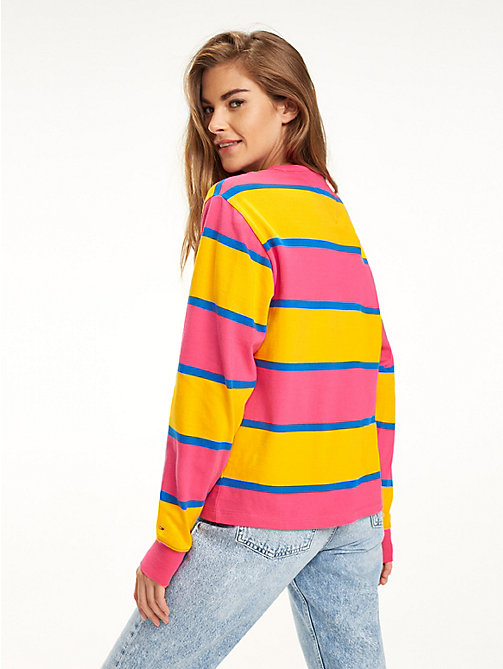 TOMMY JEANS T-shirt colour-block à manches longues - FUCHSIA PURPLE / RADIANT YELLOW - TOMMY JEANS Tops - image détaillée 1