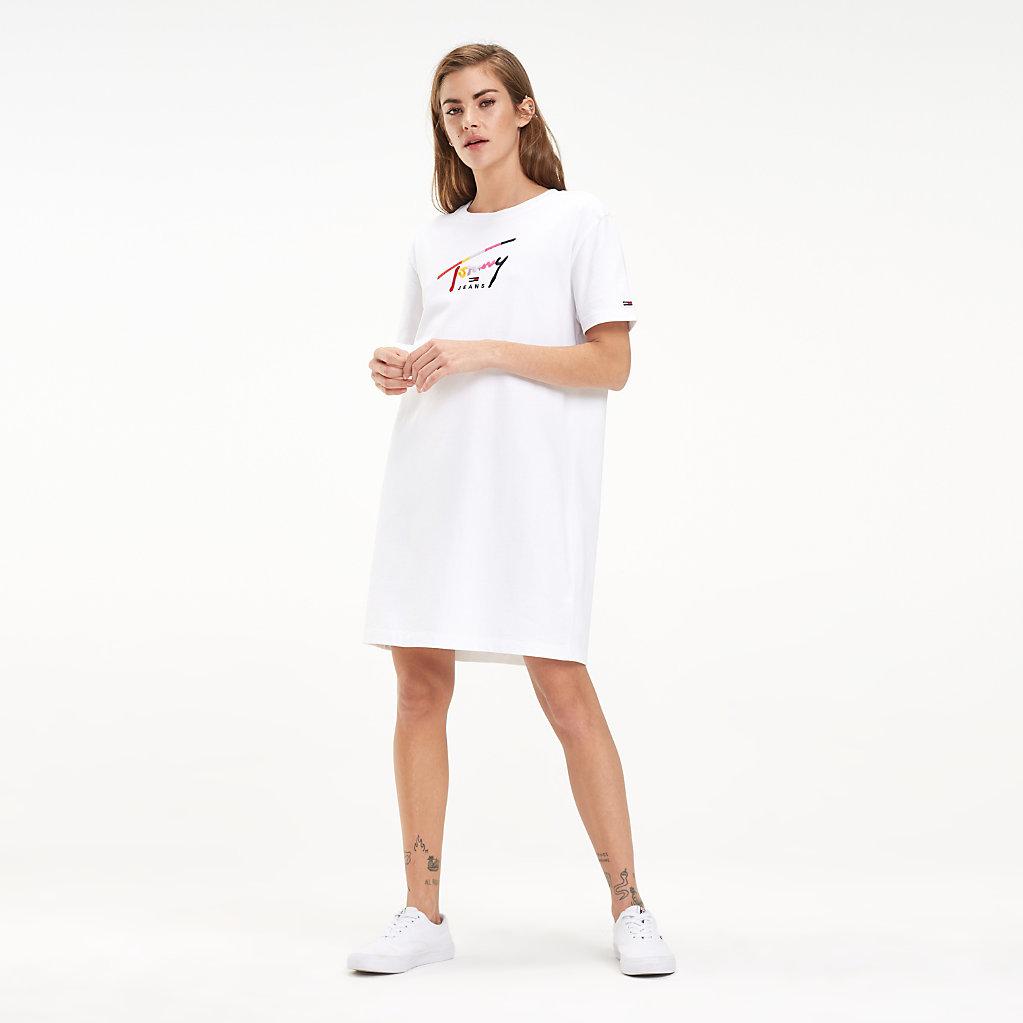 Tommy Hilfiger - Robe T-shirt en coton à logo - 1