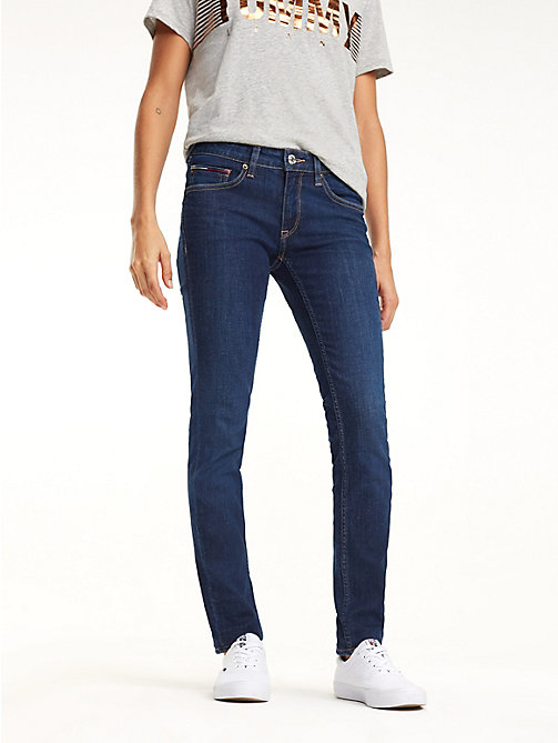 TOMMY JEANS Sophie Skinny Fit Jeans - ISLAND DARK BLUE STR - TOMMY JEANS Jeans - main image