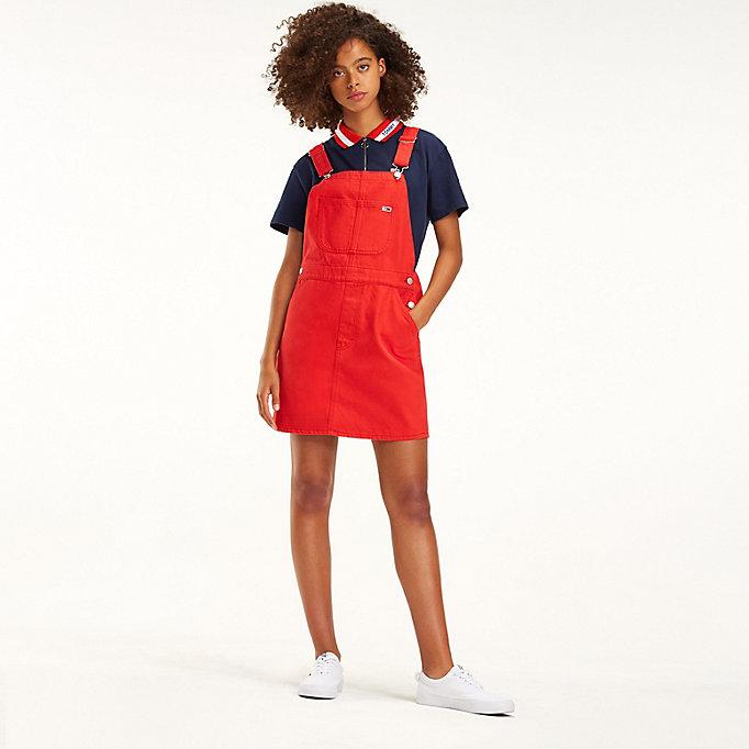 e5eee4ad Coloured Denim Dungaree Dress | Tommy Hilfiger