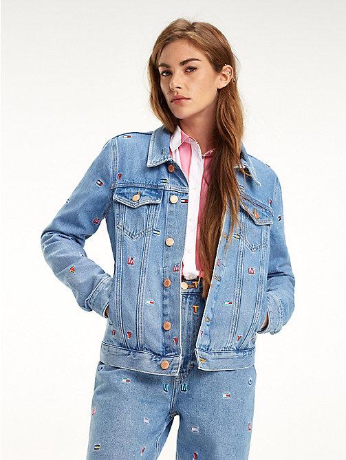 TOMMY JEANSДжинсовая куртка с флажками Tommy Hilfiger f4a9b6e0ab952