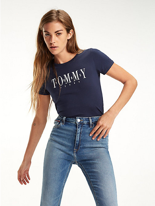 TOMMY JEANS Slim fit 1985 T-shirt - BLACK IRIS - TOMMY JEANS Tops - main image