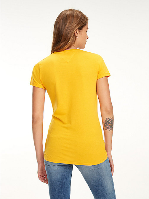 TOMMY JEANS Slim fit 1985 T-shirt - RADIANT YELLOW - TOMMY JEANS Tops - detail image 1