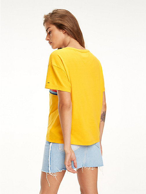 TOMMY JEANS T-shirt court à rayures multicolores - RADIANT YELLOW - TOMMY JEANS Tops - image détaillée 1