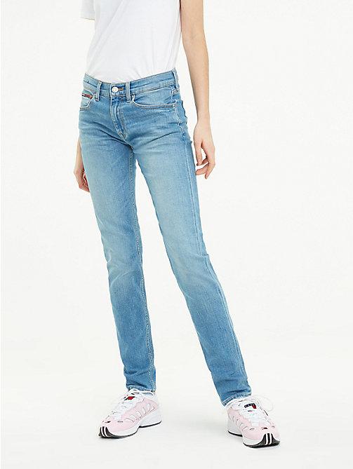 76737de18f02ad jeans tj 1972 slim fit a vita media denim da donna tommy jeans
