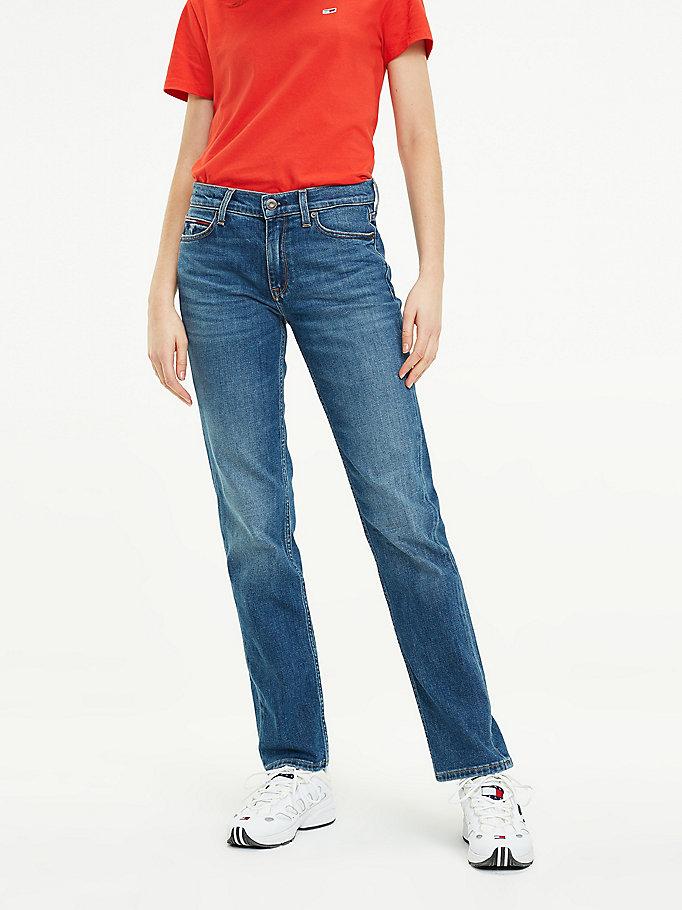 Jeansy Tommy Jeans 1985 o prostym kroju