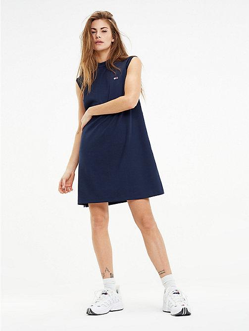 Abendkleider midi blau
