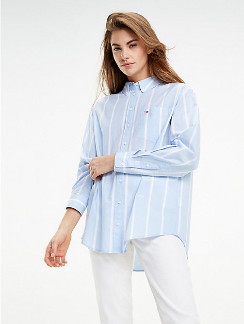 38b400c9d575b1 TOMMY JEANSAll-Over Stripe Boyfriend Fit Shirt