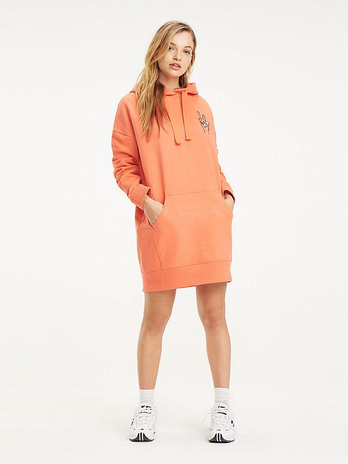 le magasin sélectionner pour le meilleur nouvelle arrivée Robe-sweat oversize à capuche et logo | ROUGE | Tommy Hilfiger