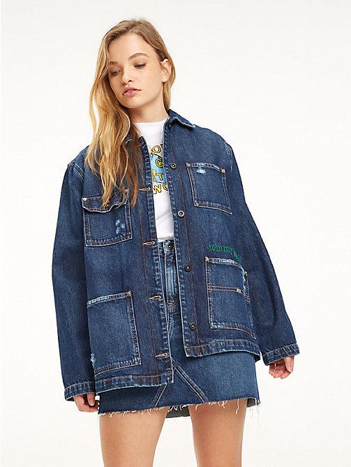 80570042bd04c TOMMY JEANSKurtka jeansowa z tkaniny z recyklingu z logo