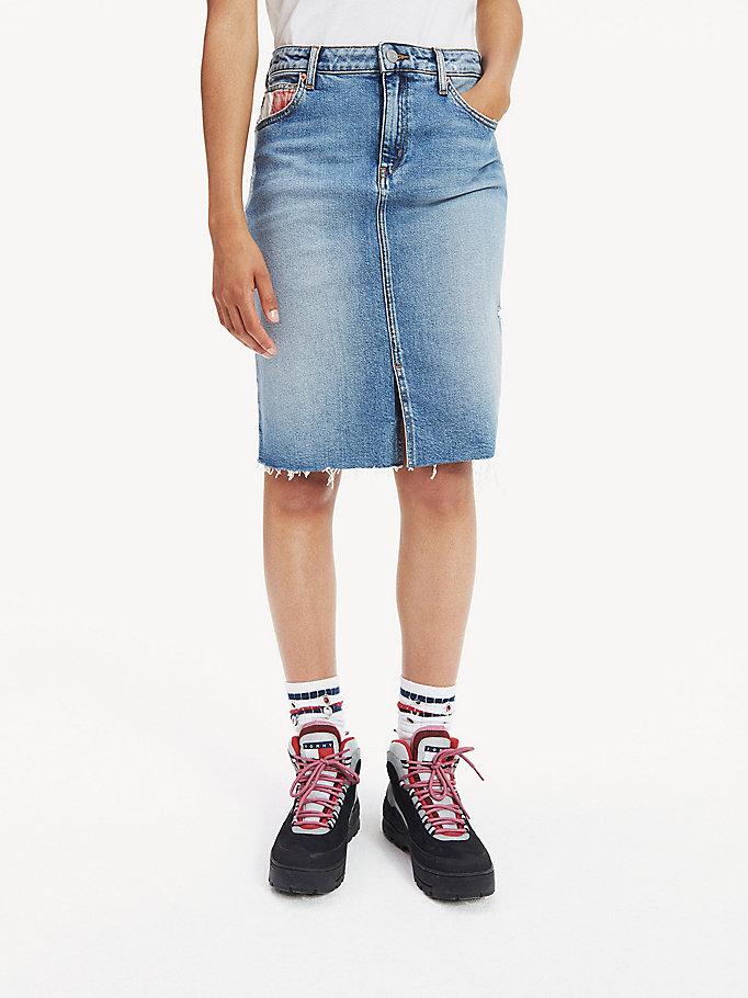goedkope prijzen outlet verkoop nieuwste collectie Slim fit lange rok van denim | DENIM | Tommy Hilfiger