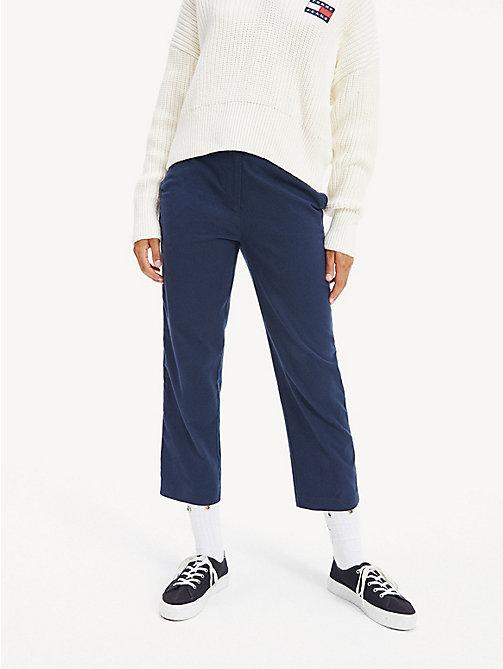 Pantalons Tommy Hilfiger Femme Pantalon en crêpe de laine