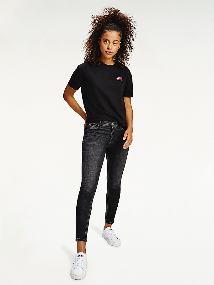 denim nora mid rise skinny faded black ankle zip jeans for women tommy jeans