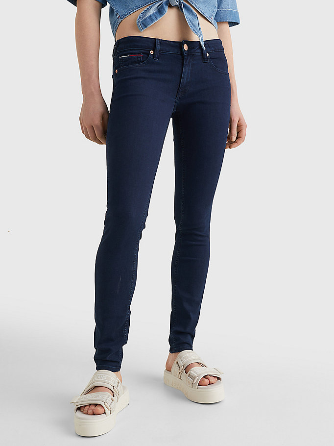 denim sophie low rise skinny jeans voor dames - tommy jeans